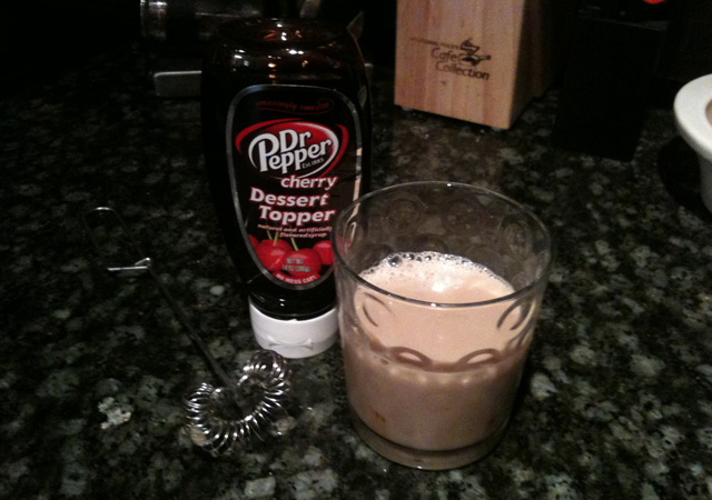 Dr. Pepper Cherry Milk