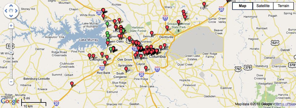 Gowalla Map:Greater Columbia