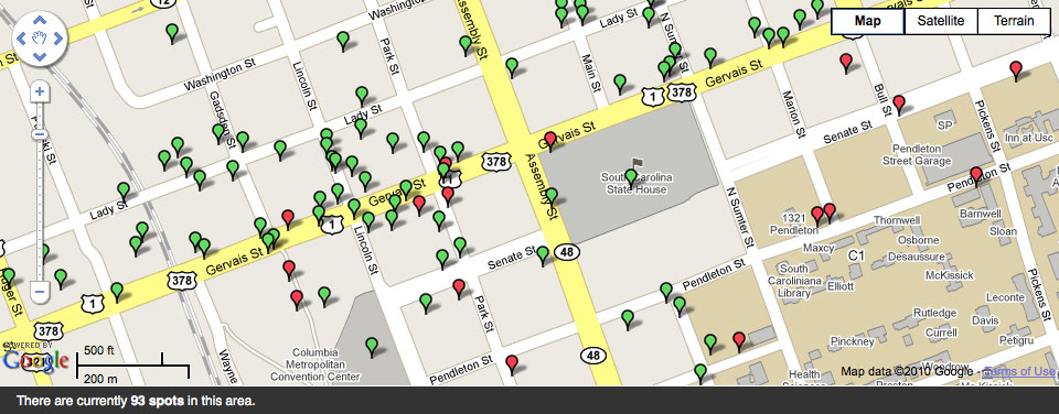 Gowalla Map:Downtown Columbia