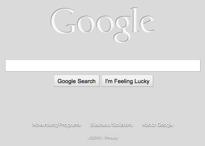 Google with no background