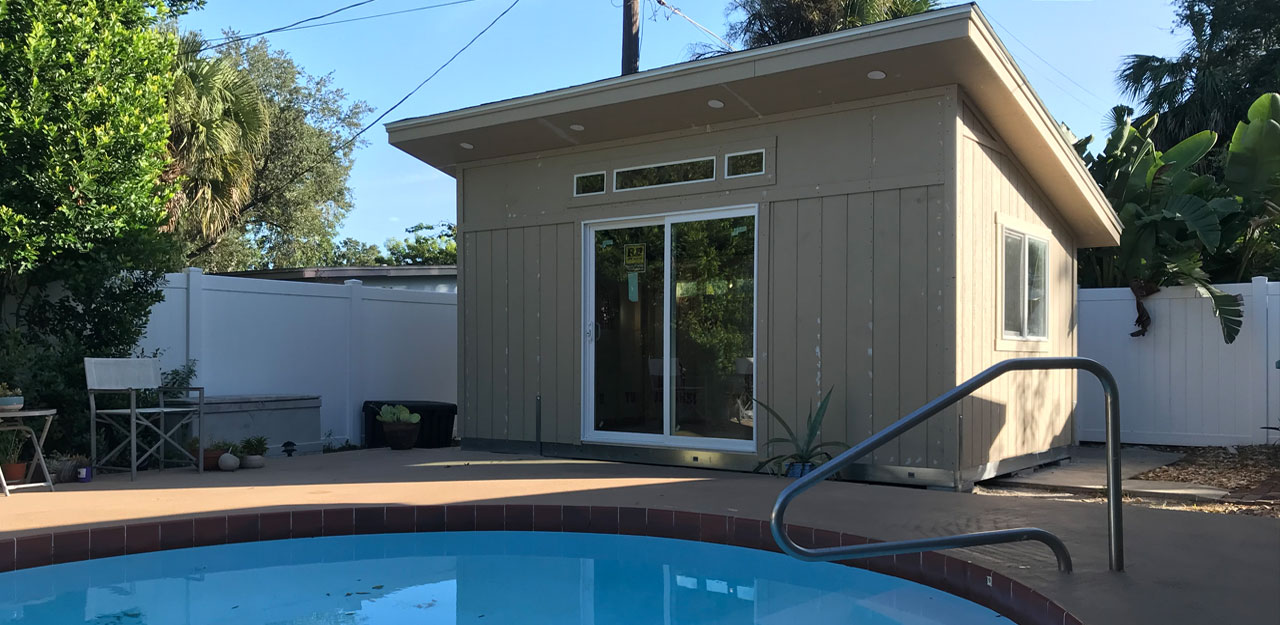Poolside Office Shed